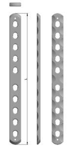 Płytka blokowana, prosta 8x2,5mm
