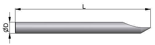 Drut Kirschnera z ostrzem typu lancet
