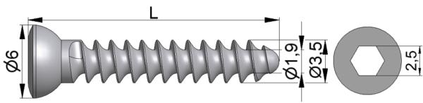 Wkręt do kości drobnych Ø3,5/1,9mm