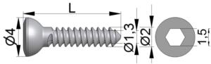 Wkręt do kości drobnych Ø2,0/1,3mm