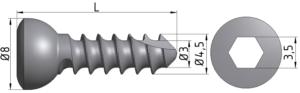 Wkręt do kości korowej Ø4,5/3,0mm
