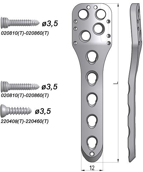 Płytka blokowana do nasady bliższej kości ramiennej (mała)